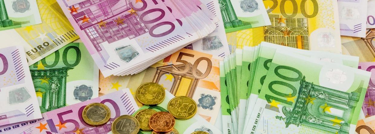 Euro geldbiljetten