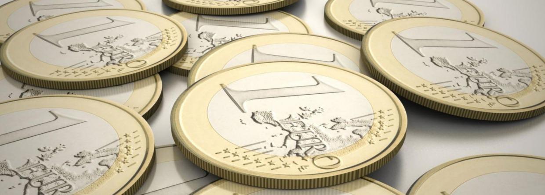 Euro munten op tafel